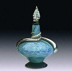 """Short Adriatico Perfume Bottle"" Art Glass Perfume Bottle Created by Eric Bladholm"