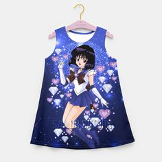 Sailor Moon Sailor Saturn Girl's Summer Dress