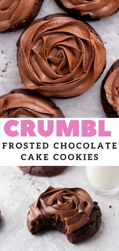 Semi Sweet Chocolate Chips, Chocolate Flavors, Chocolate Cookies, Chocolate Desserts, Fun Baking Recipes, Cookie Recipes, Dessert Recipes, Yummy Cookies, Cake Cookies