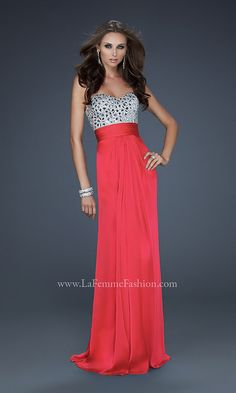 Strapless Sweetheart Formal Gown LF-17909