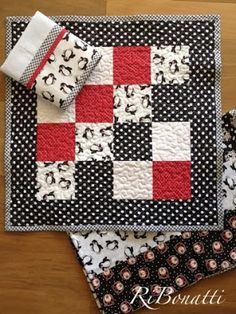 Toalha de fogão, pano de copa e toalha de mesa em patchwork