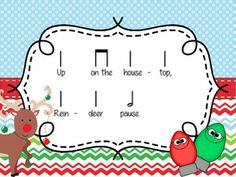 UP ON THE HOUSETOP: A TRADITIONAL CHRISTMAS SONG FOR PRACTICING HALF NOTE - TeachersPayTeachers.com
