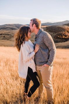 Simple Tips To Help You Understand Photography- Simple Tips To Help You Understand Photography classy utah engagement pictures in the mountains yellow fields natural posing romantic engagement photographer - Fall Engagement Outfits, Winter Engagement Pictures, Country Engagement Pictures, Engagement Photo Outfits, Engagement Couple, Engagement Session, Mountain Engagement Photos, Engagements, Engagment Poses