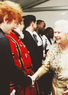 just kinda meeting the queen