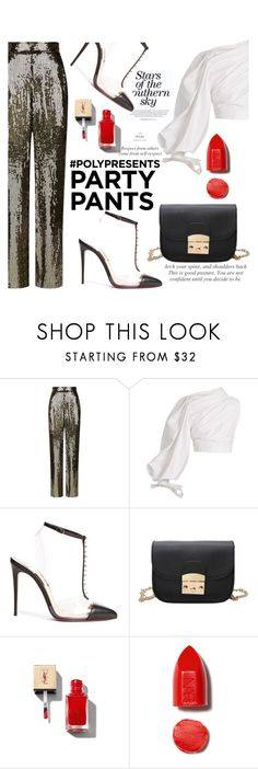 """""""#PolyPresents: Fancy Pants"""" by nataskaz ❤ liked on Polyvore featuring Alice + Olivia, Jacquemus, Christian Louboutin, Yves Saint Laurent, NARS Cosmetics, contestentry and polyPresents"""