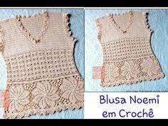 Versão destros: Blusa Noemi em Crochê (1° parte explicação ) # Elisa Crochê - YouTube