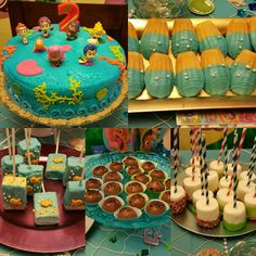 All bubble guppies theme birthday treats made by me