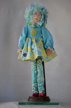 Custom art doll 14 inches tall named Francine by carolscuties, $55.00