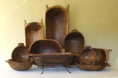 Wood dough bowls