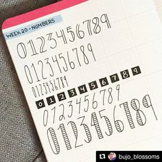 Bullet Journal Fonts for Numbers - Bullet Journal Fonts for Numbers You are in the right place about Bullet Journal Fonts for Numbers - Bullet Journal Police, Bullet Journal Numbers, Bullet Journal Writing, Bullet Journal Banner, Bullet Journal Aesthetic, Bullet Journal 2019, Bullet Journal Inspiration, Journal Ideas, Lettering Tutorial