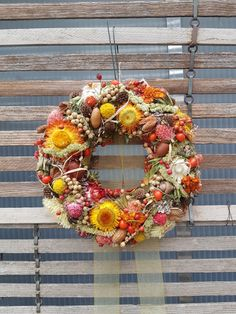 Floral Wreath, Wreaths, Fall, Home Decor, Crown Cake, Autumn, Flower Crowns, Door Wreaths, Room Decor