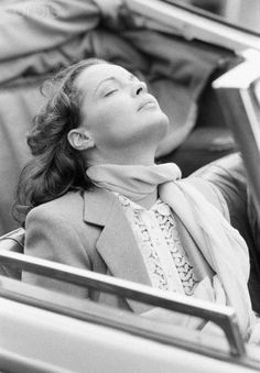 Romy Schneider on the Set of Gruppenbild mit Dame