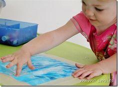 ziploc bag finger painting