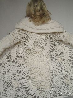 crochet, lace coat