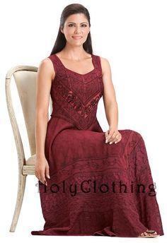 #holyclothing In Burgundy Wine: http://holyclothing.com/index.php/venus-diamond-neck-satin-lace-full-a-line-skirt-sun-dress.html