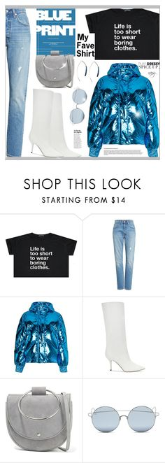 """""""Dress Up your Shirt"""" by nans0717 ❤ liked on Polyvore featuring Levi's, Ienki Ienki, Paul Andrew, Theory, For Art's Sake, Boots, skinnyjeans, metallic, favoriteshirt and pufferjacket"""