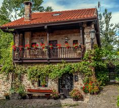 - jose maria vazquez You are in the right place about home design tips living rooms Here we Stone Cottages, Cabins And Cottages, Stone Houses, Hacienda Style Homes, Spanish Style Homes, Spanish Revival, Spanish Colonial, Rustic Houses Exterior, Village Houses