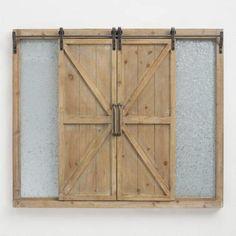 Sliding Door Chalkboard and Magnet Board. #ad #homedecor #decor #rustic #home #farmhouse