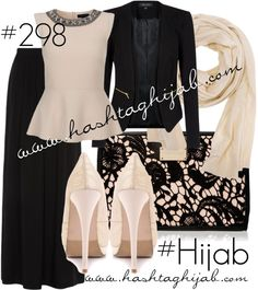 Hashtag Hijab Outfit #298 van hashtaghijab met shawls scarvesSleeveless peplum top€13-newlook.comBlack jacket€35-newlook.comBlack maxi skirt€13-newlook.com2 Lips Too ivory shoes€39-heels.comForever New zip wallet€21-forevernew.com.auDoublju shawls scarve€13-amazon.com