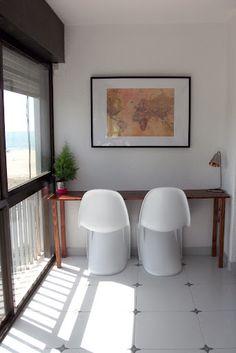diy desk, beach, simple, white, wood, worldmap Diy Desk, White Wood, Eames, Chair, Simple, Beach, Room, Furniture, Home Decor