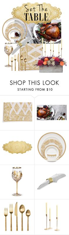 """Set the Table"" by danilicious86 ❤ liked on Polyvore featuring interior, interiors, interior design, home, home decor, interior decorating, Juliska, Frontgate, Waterford and Jay Strongwater"