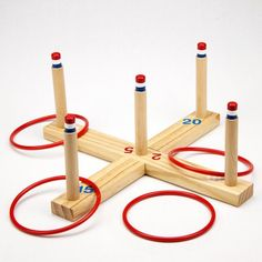 Whether you are hosting a fundraising carnival, a child's birthday party or a backyard barbeque, no event is complete without ring toss! This Midway Monster ring toss set is made of sturdy wood compon Classic Card Games, Backyard Barbeque, Barbecue, Carnival Games, Carnival Booths, Fall Carnival, Carnival Ideas, Ring Toss, Craft Ideas
