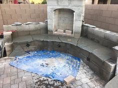 diy outdoor fireplace update tucson house in 2019 diy outdoor rh pinterest com