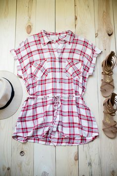 For the Curvy and Extra Fabulous! | STB Blog - Single Thread Boutique #feelgood #retail #curvy #plaid #tunic #comfy #stylish #pockets #tie #top #newadditions #cuffedjeans #shorts #stbblog #singlethreadbtq #shopstb #boutique