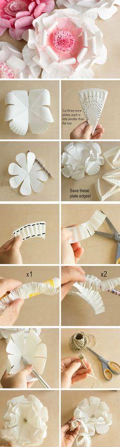 Paper Plate Flowers | DIY Engagement Party Decorations Ideas Decor