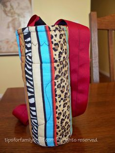 Here is a simple sewing project for a water bottle carrier. Now my kids WANT to carry their own water on family outings.