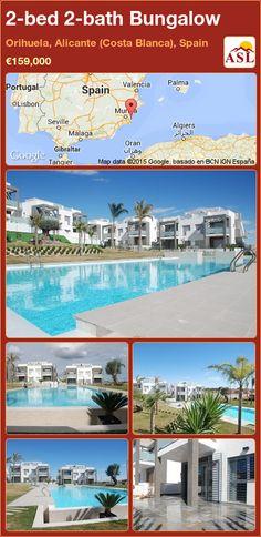 2-bed 2-bath Bungalow in Orihuela, Alicante (Costa Blanca), Spain ►€159,000 #PropertyForSaleInSpain