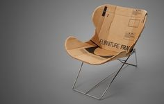 RE-PLY: A CHAIR DERIVED FROM CARDBOARD BOXES