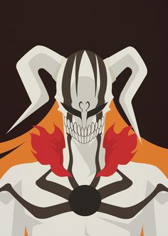 Bleach Poster Hollow by MinimallyOnePiece on Etsy, $30.00