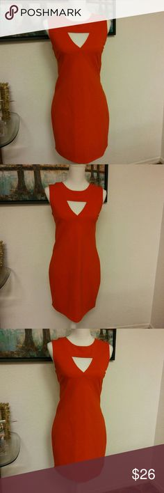 Zara Cut Out Dress Zara W&B Collection. Size small but more like a medium. This dress will show off your curves. Beautiful coral color. Last picture is of the back. In mint condition! 👌 zara Dresses Mini