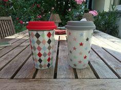 Unsere bunten Travel Mugs von #Krasilnikoff