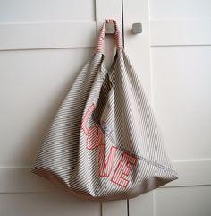 LuLu: Origamibag, Einkaufstasche, 12monate12taschen, nähen, Plastik vermeiden, Stoff, Alternative zu Plastik, Tasche, Stofftasche, Beutel