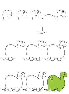 Zeichnen von Super Cute Baby Animals – Famous Last Words Cute Easy Drawings, Art Drawings For Kids, Doodle Drawings, Drawing For Kids, Animal Drawings, Doodle Art, Art For Kids, Crafts For Kids, Dino Drawing