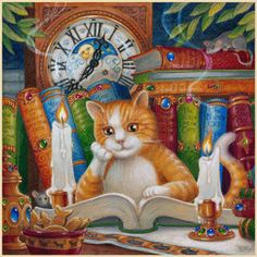 Randal Spangler My cats are my children. They are so smart, they must read books at night.  The Literate Cat