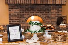 Green and White Wedding, Dessert Buffet- | Kristen Weaver Photography | Vangie's Events of Distinction