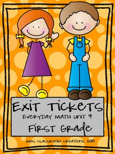 A great snapshot of first graders learning every day!  Use this packet to compliment the everyday math curriculum or use it totally separate!  Paste these exit tickets into a composition notebook for a great look at math successes throughout the school year!