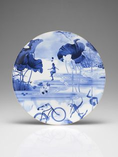 Blue Lotus Decorative Plate | Shaghai Tang