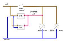 pir switch wiring diagram - Google Search