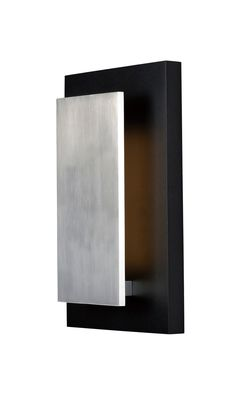 """The ET2 Alumilux Sconce 14"""" Tall Integrated LED Wall Sconce with Black / Satin Aluminum with a bold, contrasting and modern look. 