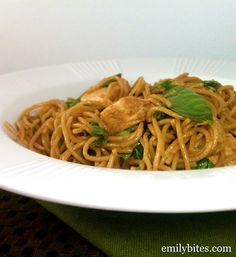 spicy sesame noodles w/ chicken