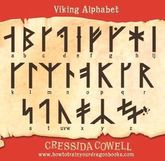 How to train your dragon viking alphabet!!  I'VE memorised it!!!!!