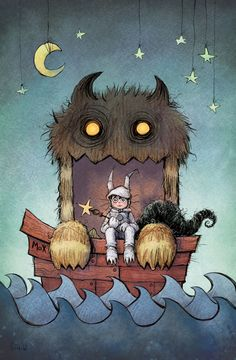 Lighting the flame for a blaze of imagination.  Where the Wild Things Are, Maurice Sendak