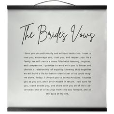 The Brides Vows Wedding Vows Magnetic Frame Wall Hanging Decor, Wedding Gift Vow Examples, Wedding Vows Examples, Best Wedding Vows, Great Wedding Gifts, Wedding Vows To Husband, Wedding Day, Dream Wedding, Modern Wedding Vows, Wedding Vows That Make You Cry