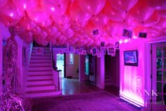 Again, photos hanging from balloons....interesting idea, though only for a few hours.