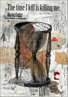 Fine Art Leinwand Poster PRINT Geschenk abstrakt Leinwand Mischtechnik Collage Zeichnung Skizze signiert Autogramm von M. Emanuel Ologeanu Wanddekoration