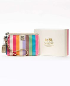 Coach wristlet love the colors!